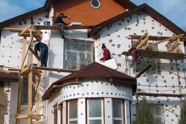 Наружное утепление дома фото